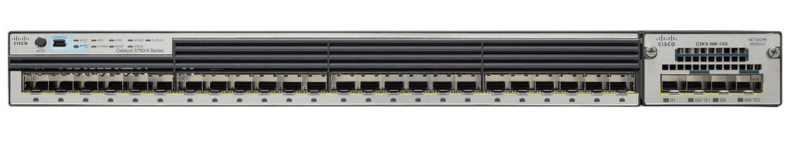Cisco Sealed Fiber Ethernet Switch 24 Port Gigabit SFP Network Switch WS-C3750X-24S-S