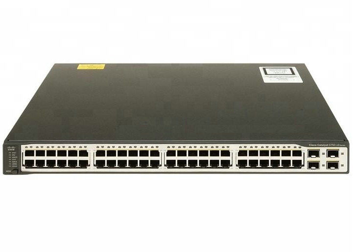 Managed 48 Port Gigabit Ethernet Switch Layer 3 Cisco Original Switch WS-C3750V2-48TS-S supplier