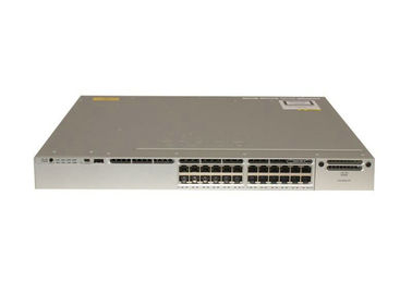 WS-C3850-24T-E Manageable Lan Gigabit Switch , Gigabit Fiber Switch With Power Supply